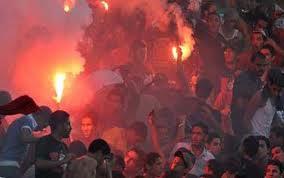 أحداث شغب مباراة الأهلي والمصري